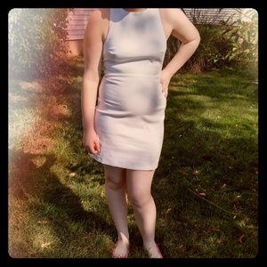 Zara White criss cross back dress